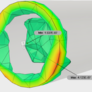 Simulation Study of a Bar Having Circular Cross Section Under Compressive  Force