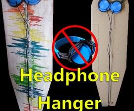 Cardboard Headphone Hanger