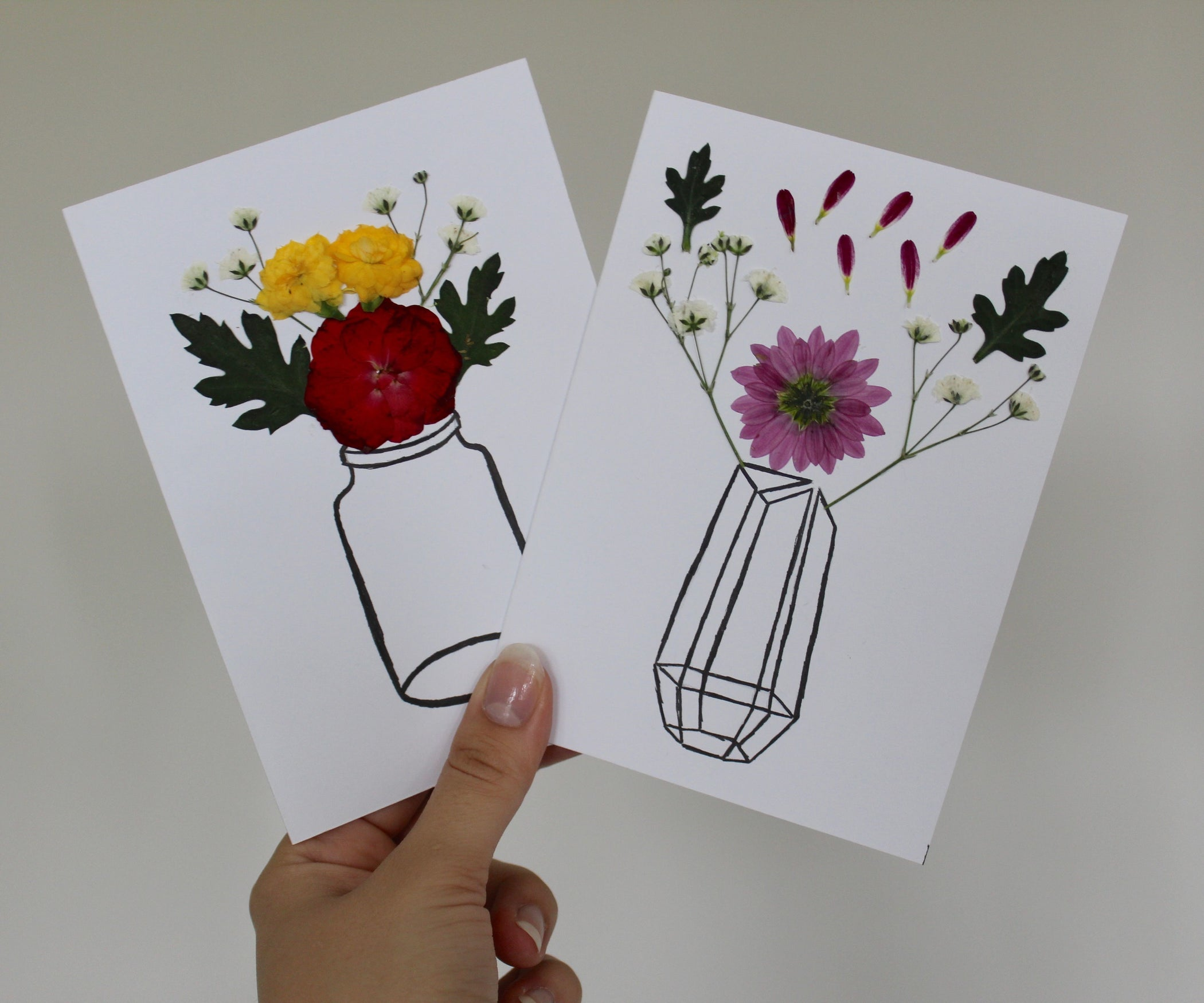Diy Pressed Flower Card 7 Steps With Pictures