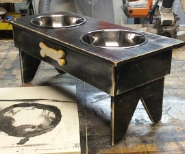 Dog bowl platform/table
