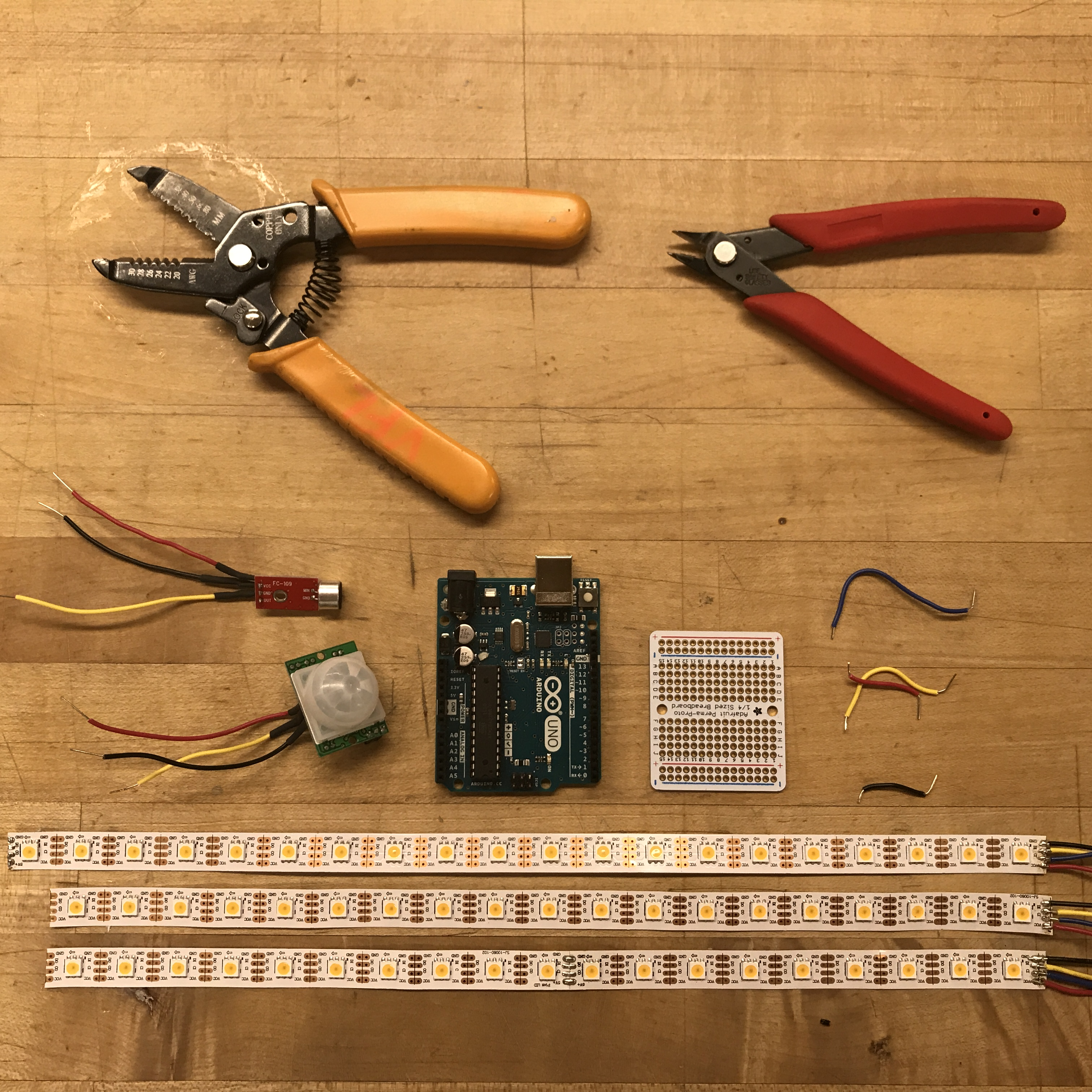Picture of Soldering and Connecting Circuit