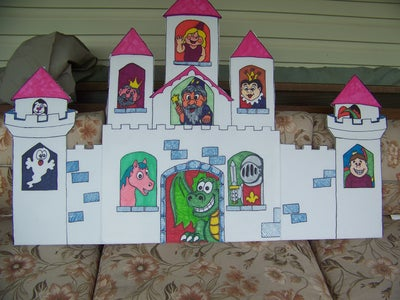 Color Windows and Castle With Markers