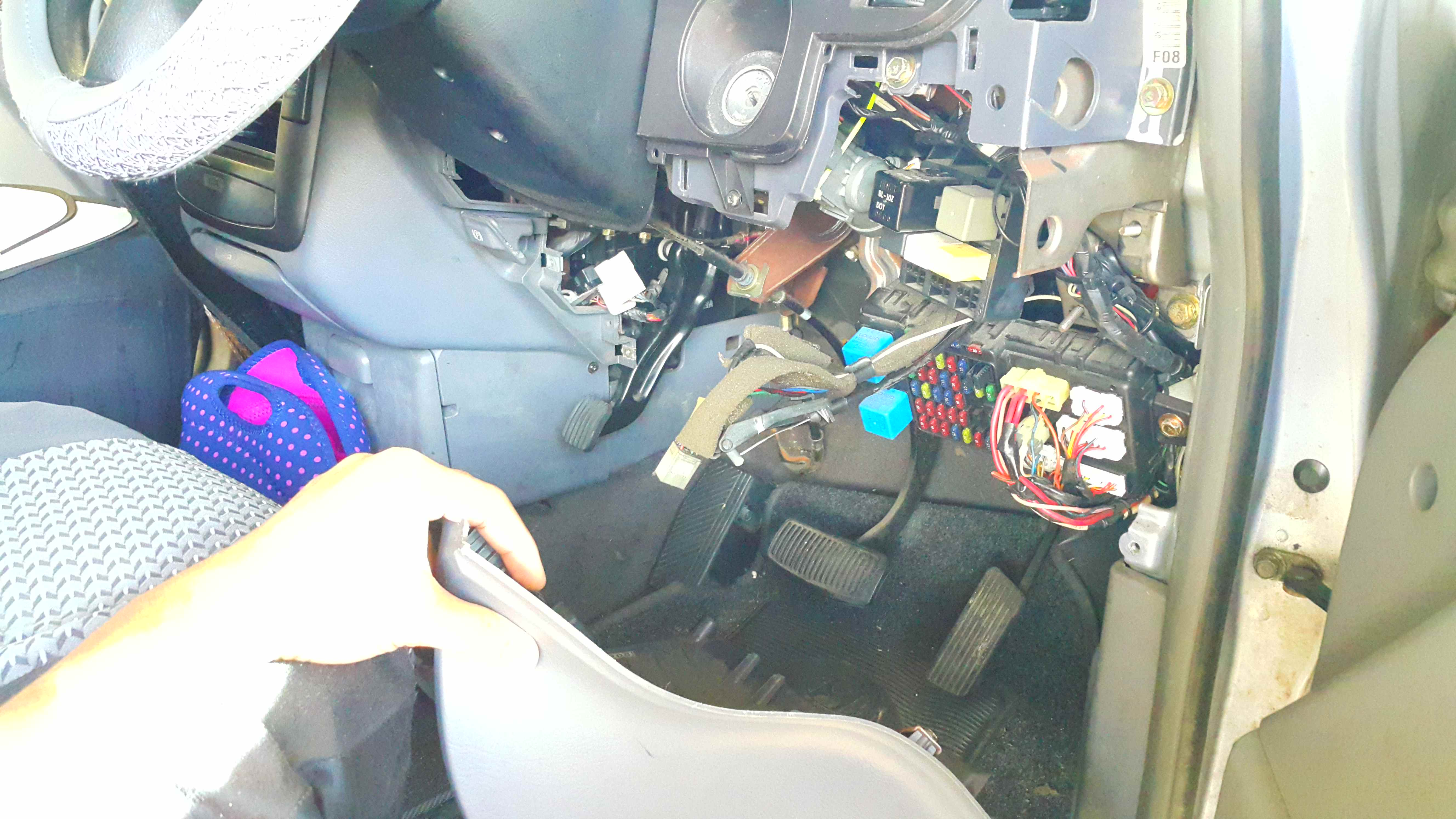 Picture of Remove the Lower Dash Cover.
