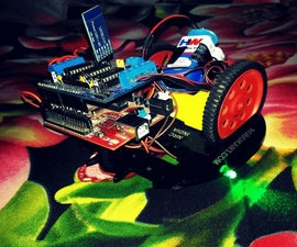 Android Controlled Bot using Adafruit motor Shield