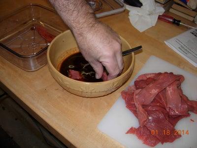 Marinading the Meat