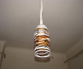lampshade for energy saving lamp,  from Recycled Water Bottles