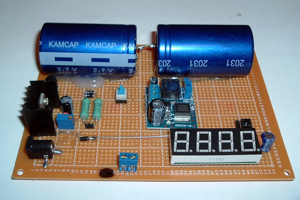 The Forever Rechargeable Variable Super Capacitor Battery 4 Steps Lm317 Circuit With 12v Charger Diagram