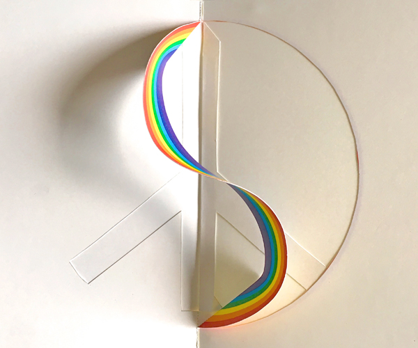 Picture of Peace & Rainbow Pop-up Card