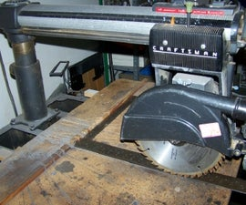 Radial Arm Saw Table Alignment -- an Easier Way