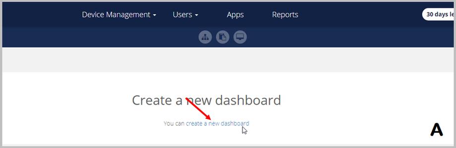 Creating New Dashboard