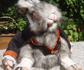 Evil White Rabbit Puppet/toy