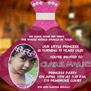 DIY Princess Gown Invites for your Lil Princess's Birthday