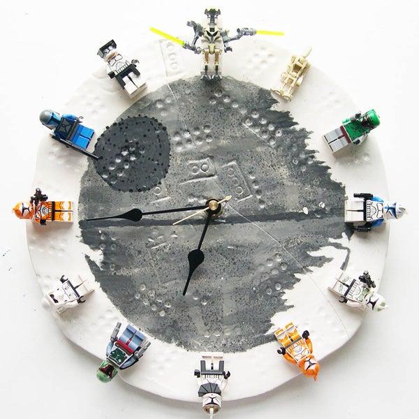 My Son's Interchangeable Lego Star Wars Clock