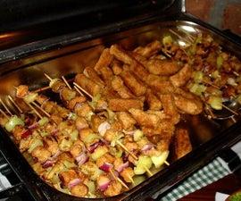 Vegan Mini Kebabs - a Balkan Specialty!