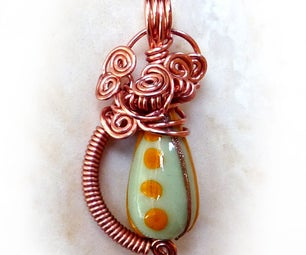 Wire Wrapped Bead Pendant