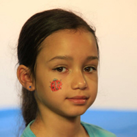 Picture of Ladybug Face Paint Design