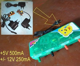 Pencil Box Triple Output Power Supply