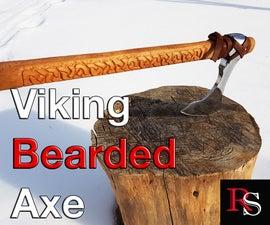 Viking Bearded Axe (Skeggox) From An Old woodsman Axe