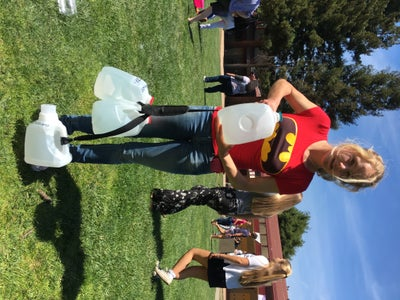 Luckily I Found Super-Heros to Help Lift the Massive CO2 Weight of a Gallon of Gas