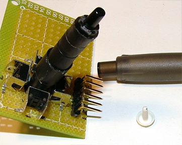 Picture of Solder the Fire Button and Cap It
