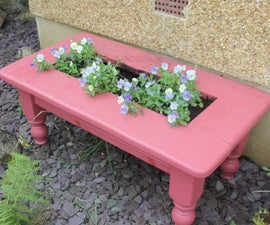 Make a Garden Planter From an Old Dining Table