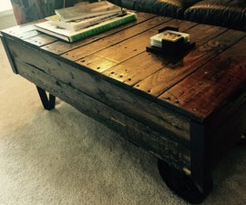 Coffee Table (Industrial Cart)