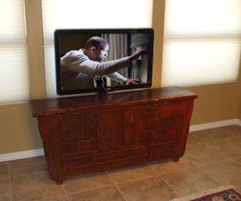 Disappearing TV with Pop Up TV Lift Mounted Behind Furniture
