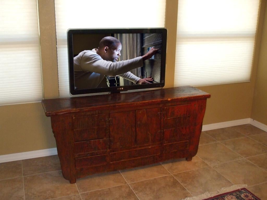 Disappearing Tv With Pop Up Tv Lift Mounted Behind Furniture 8