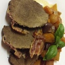 Slow Cooked Moose With Veggies