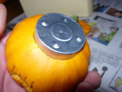 Light the Mini Jack-O-Lantern