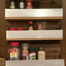 Reclaimed Barn Wood Spice Rack