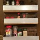 Reclaimed Barn Wood Spice Rack