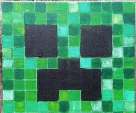 How to paint Minecraft Faces - Creeper - Pig - Stampy Cat - Enderman