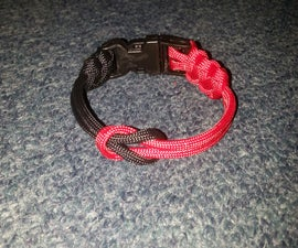 Paracord Cow Hitch & Buckle Bracelet