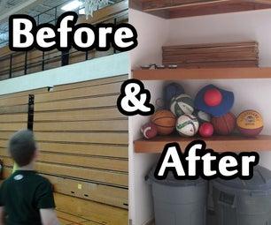Gym Bleachers to Garage Shelves