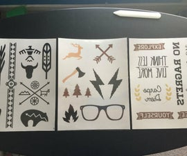 Design and Print Your Own Temporary Tattoos