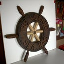 My pirate costume ship's wheel!!