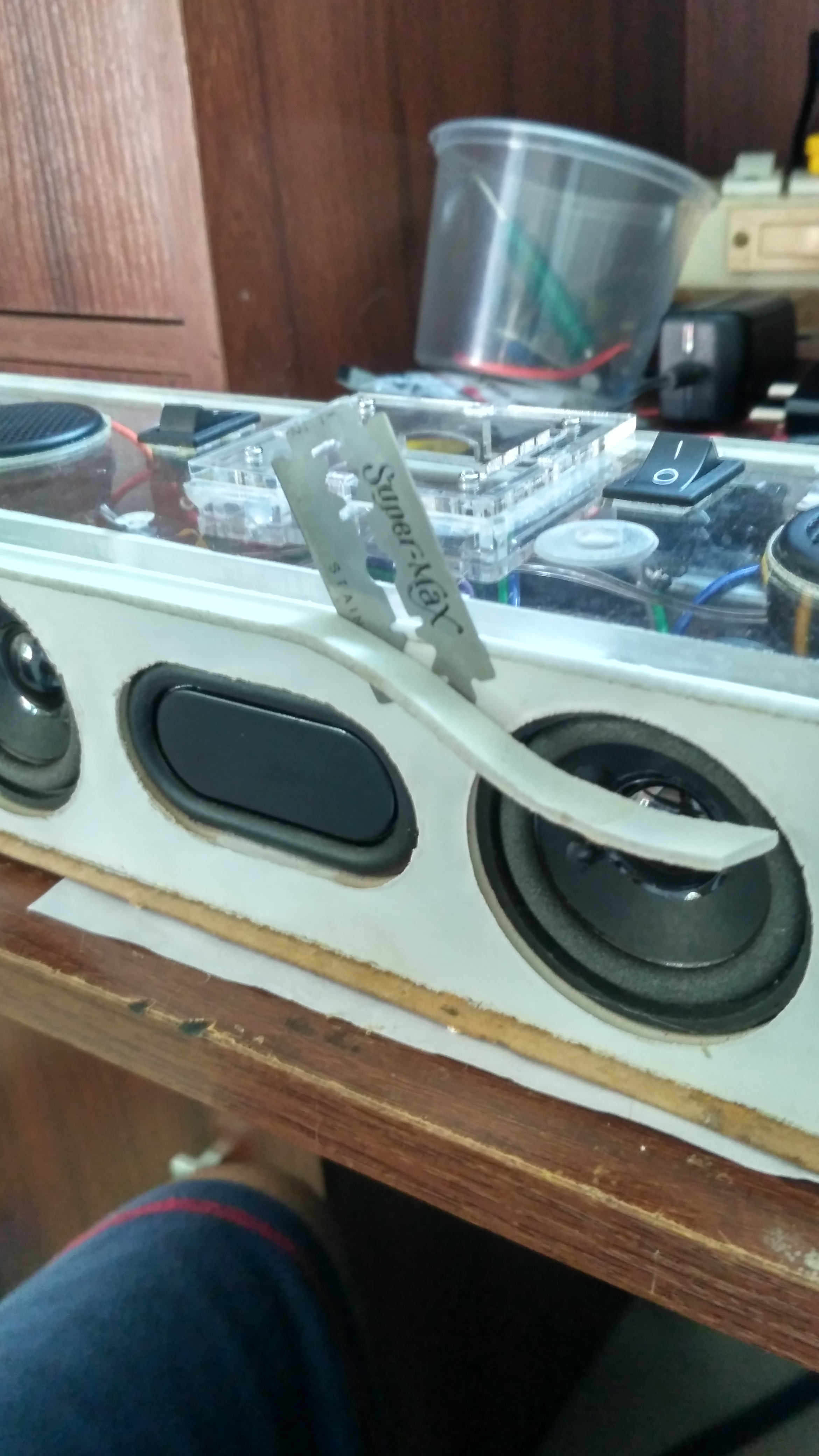 Picture of Adding Padding and Attaching the Acrylic Panel:-