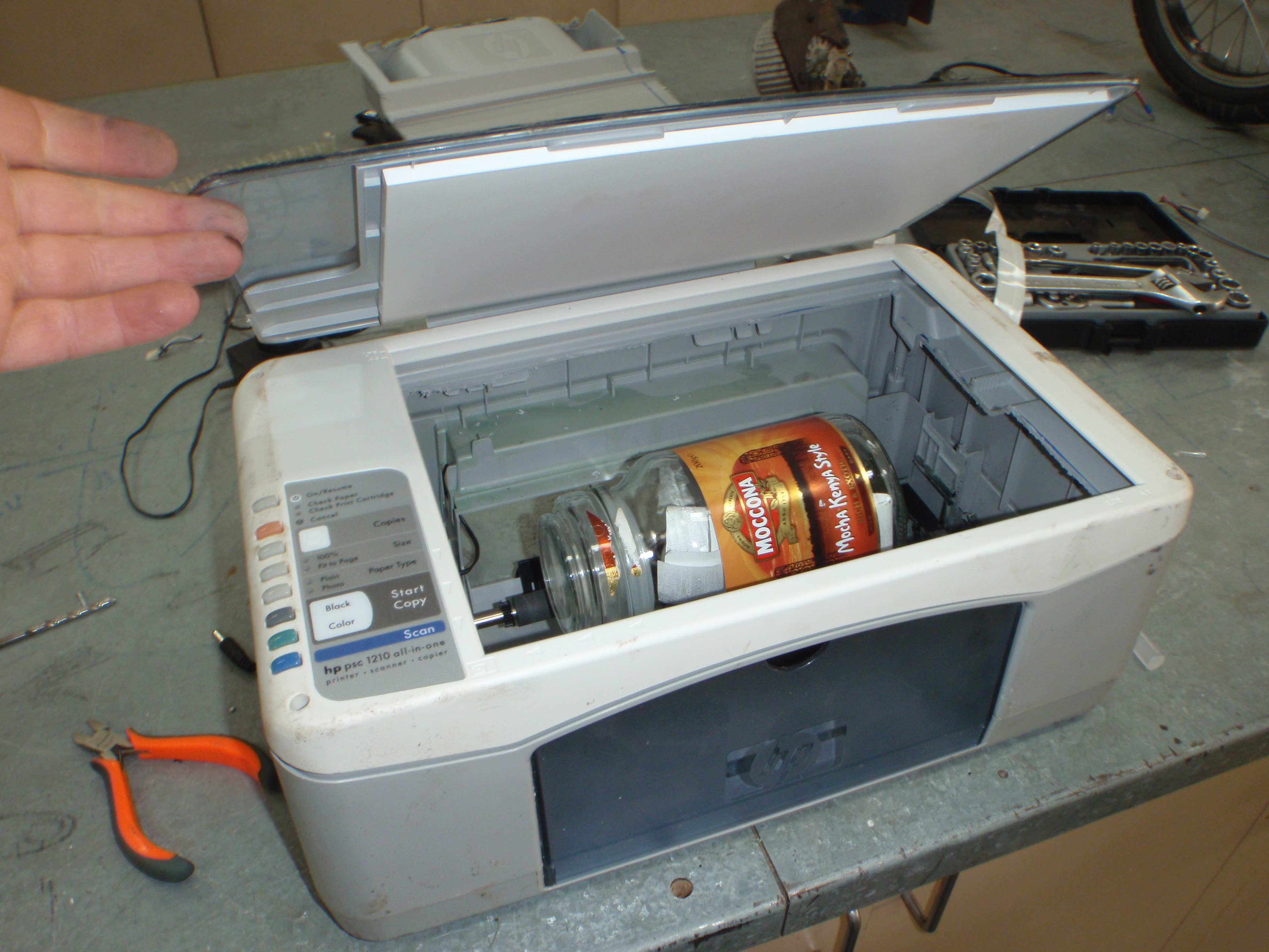 Picture of Coin Tumbler Printer Hack