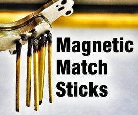 Magnetic Matchstick Trick Cool Party Trick