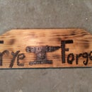 Rustic Burned Shop Sign