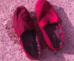 DIY Rustic Canvas Shoes