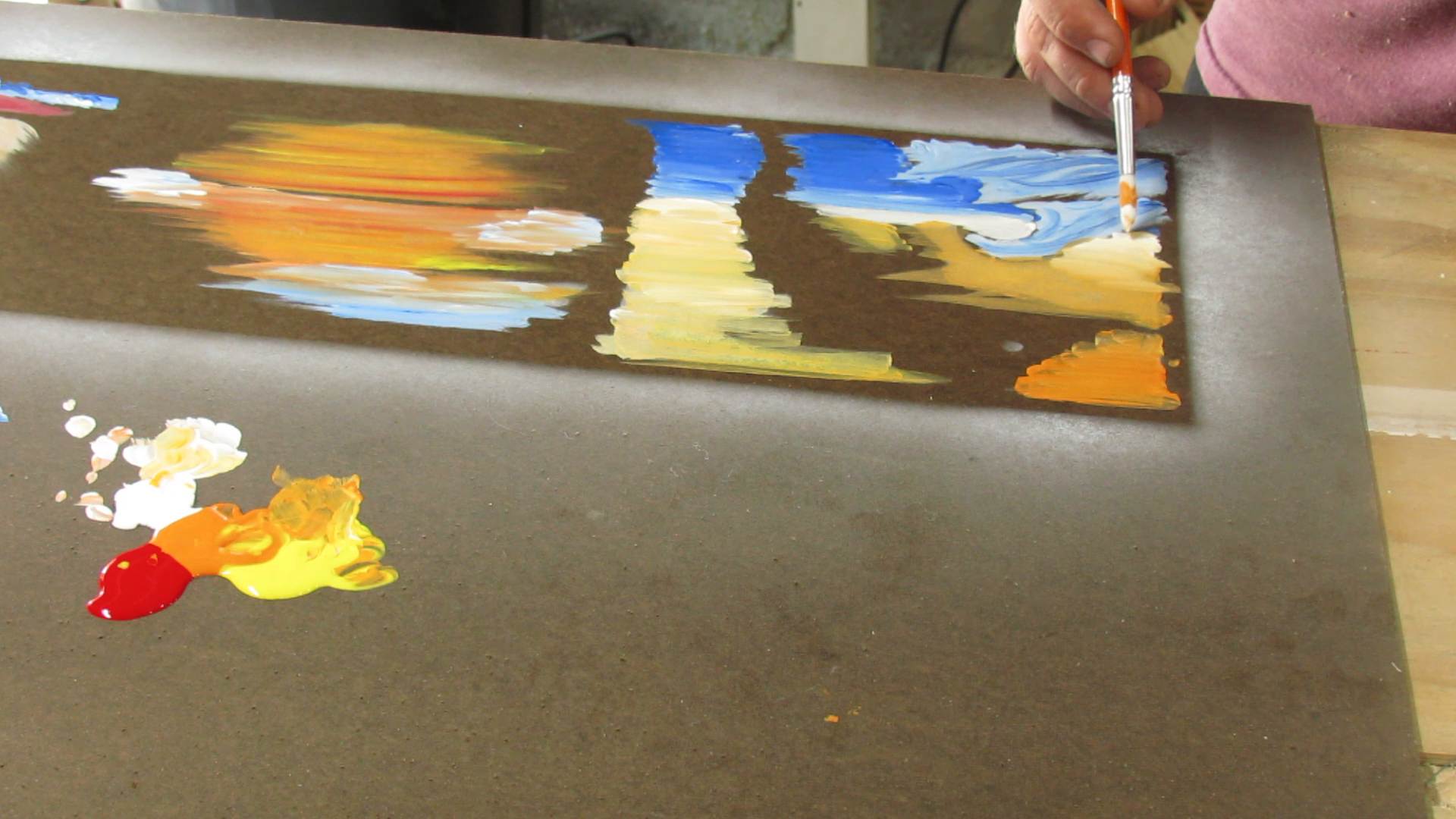 Picture of Painting the Backer Board