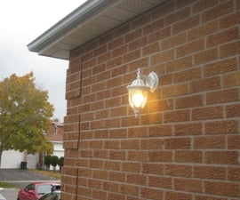 Reinforcing Epoxy - Outdoor Lamp