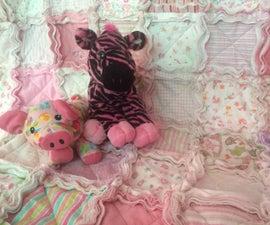 Receiving Blanket Rag Quilt