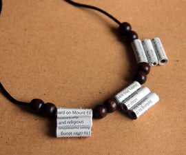 Make a Necklace With Newspaper