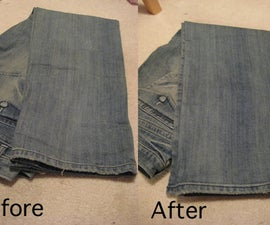 Awesome Jean Shortening Technique