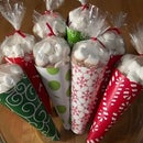 Make Hot Cocoa Cone Gift Bags...with your clothes iron!
