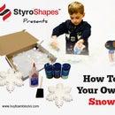 Styrofoam Snowflake Glitter Crafts