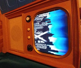 Retro TV Console Media Cabinet - UPDATED Now With RetroPie